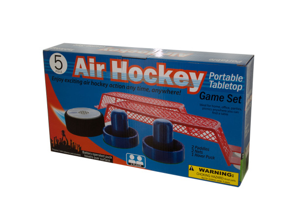 Portable Tabletop Air Hockey Game Set