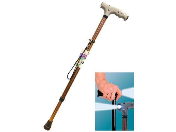 Adjustable Walking Cane with LED Light
