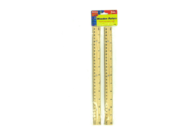 Wooden ruler set