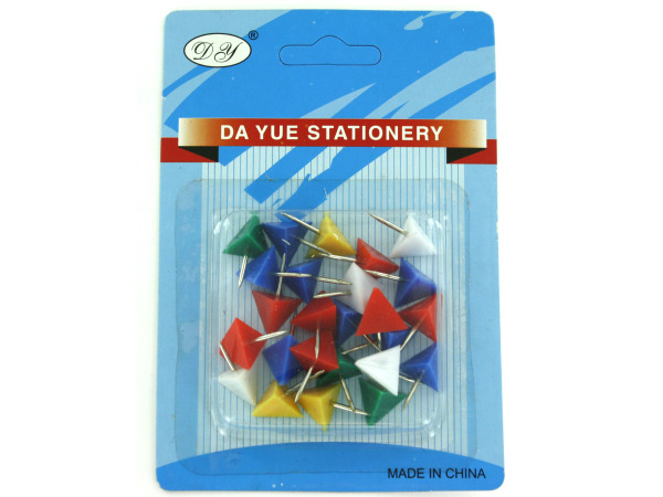 Triangle shape push pins