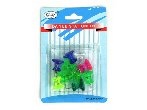 Large push pins in assorted colors