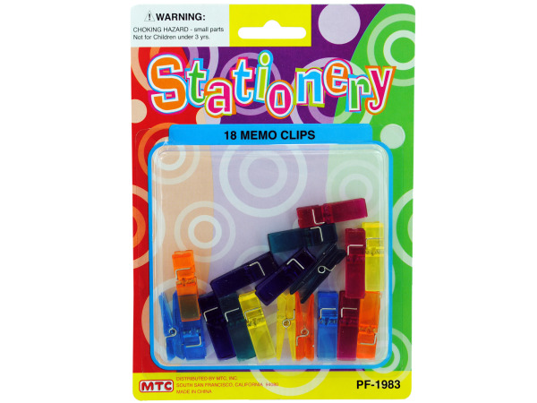 18 pack clothespins clips assorted translucent colors