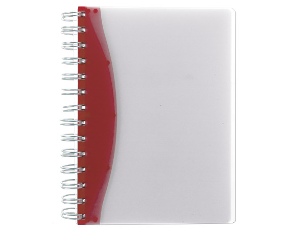 "7"" Red/Clear Notebook"