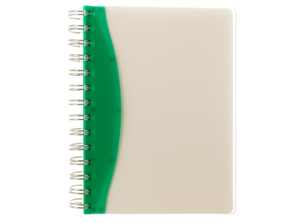 "7"" Green/Clear Notebook"