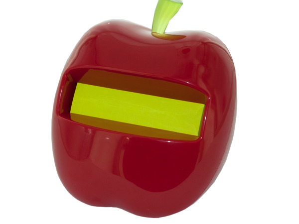 Apple-shaped Post-it Note Pop-up Dispenser