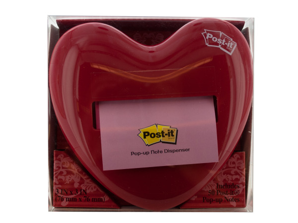 Heart-shaped Post-it Note Pop-up Dispenser
