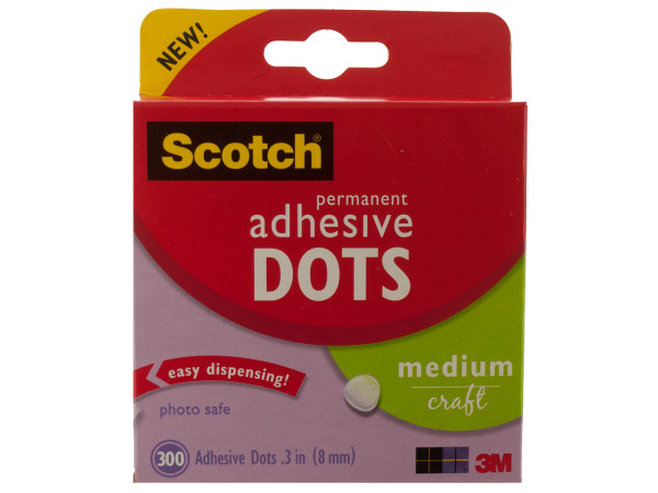 Scotch Permanent Medium Adhesive Dots