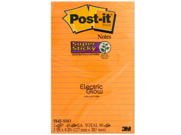 Electric Glow Post-it Super Sticky Notes