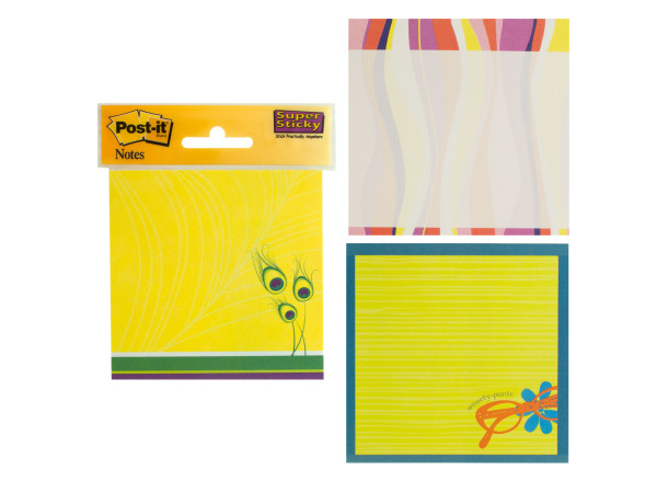 Colorful Post-it Super Sticky Notes Set