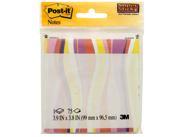 Retro Swirl Post-it Super Sticky Notes