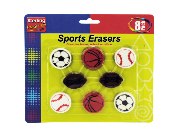 Sports themed erasers
