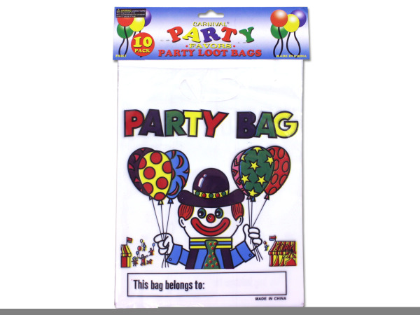 Carnival-theme loot bags