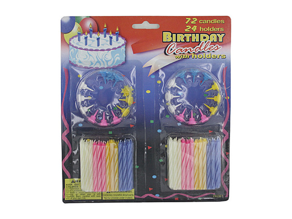 Deluxe birthday candle set