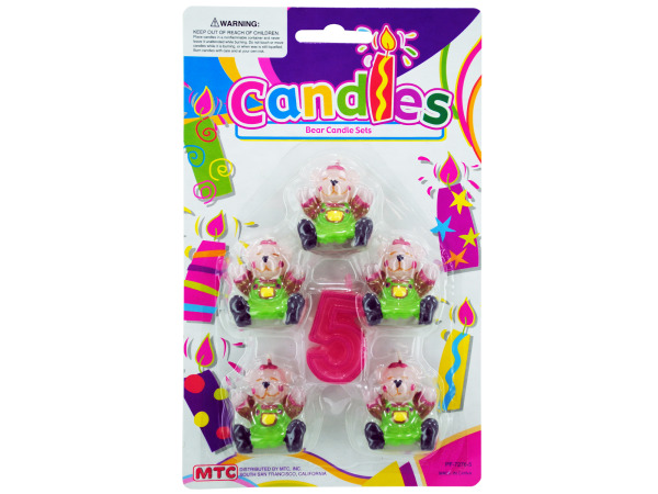 5pk bears with number 5 candle