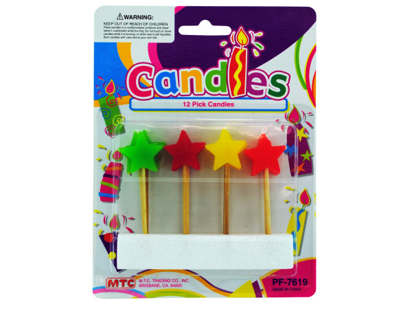Star-shaped pick candles