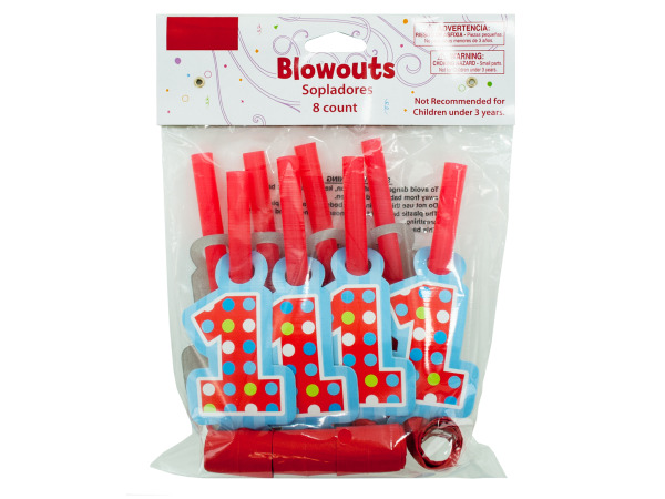 8 pack 1st birthday blowouts