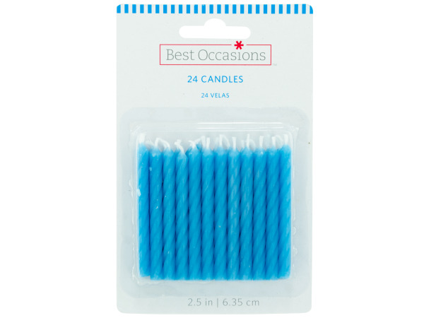 24 pack blue candles