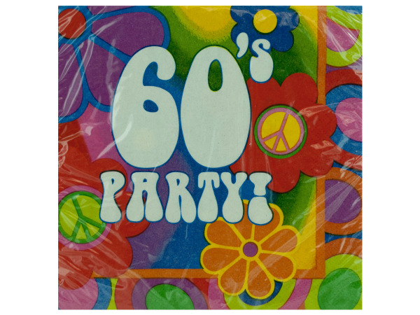 18 pack 60's party napkins