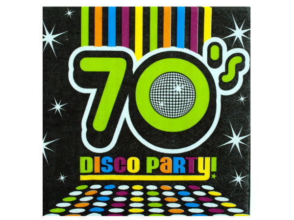18 pack 70`s party napkins