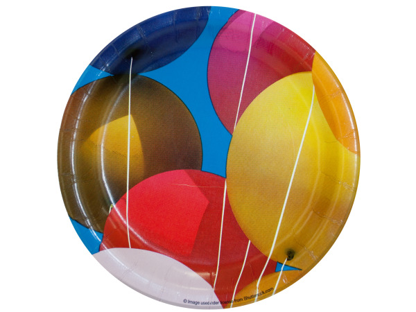 8 pack balloons plates
