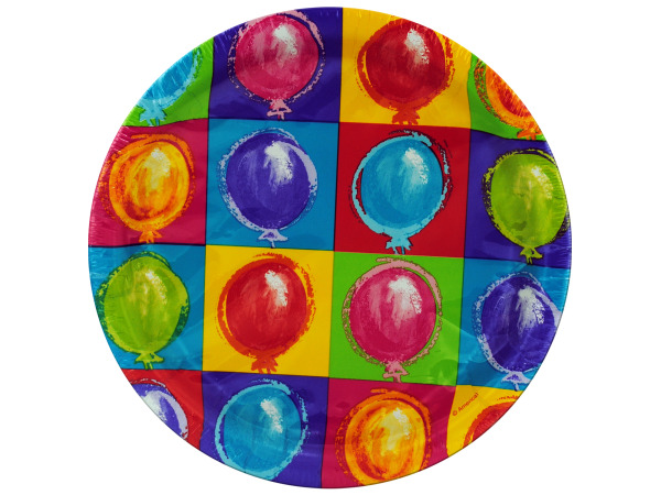8 pack 6 3/4 inch balloon party paper plates