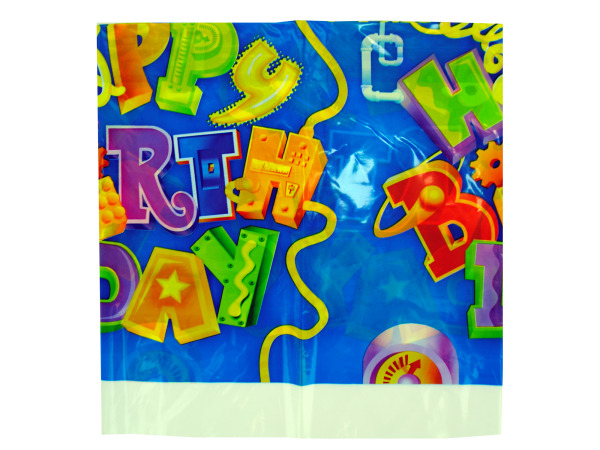 48 x 88 inch birthday gadgets plastic tablecover