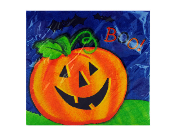 18ct pumpkin smile napkins