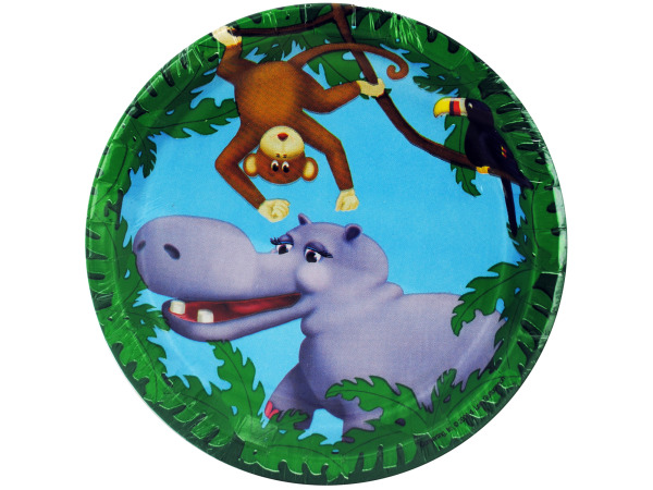 8 count 7inch jungle pals plates