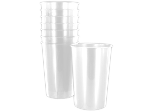 8 pack 9oz white plastic cups