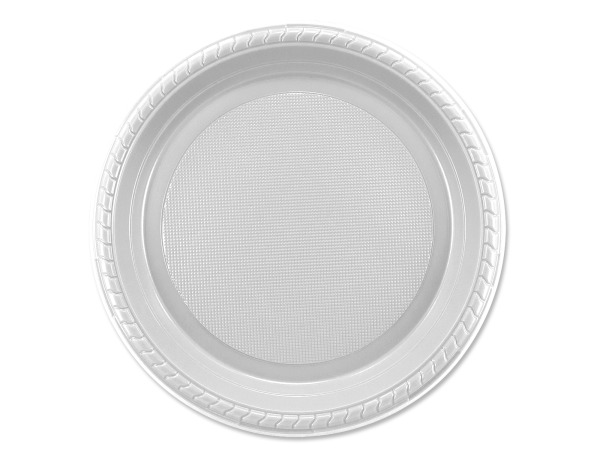 12 pack 7 inch white plastic plates