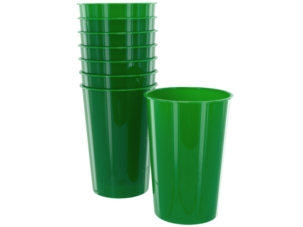 8 pack 9oz green plastic cups
