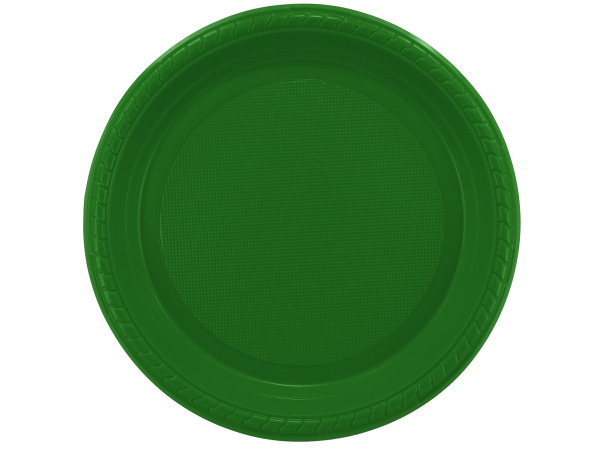 "8 pack 9"" green plastic plates"