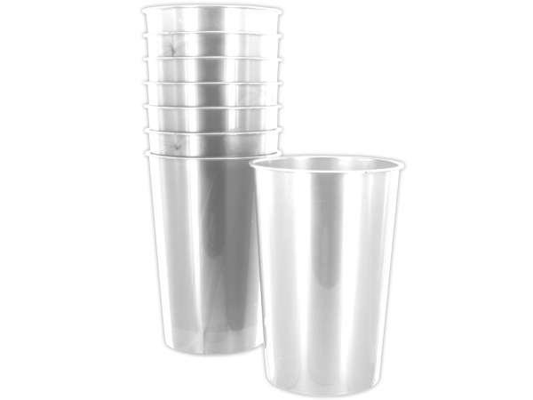 8 pack 9oz clear plastic cups
