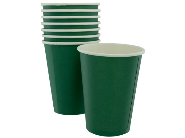 8 pack 12oz green paper cups