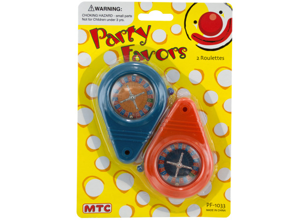 2 pack roulette game party favors