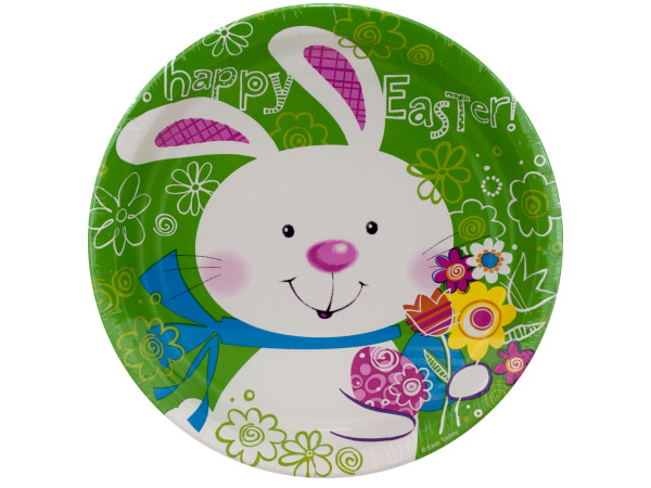 8 pack 6.875 inch hoppy bunny paper plates