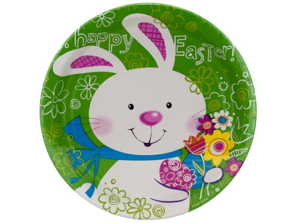 8 pack 8.75 inch hoppy bunny paper plates
