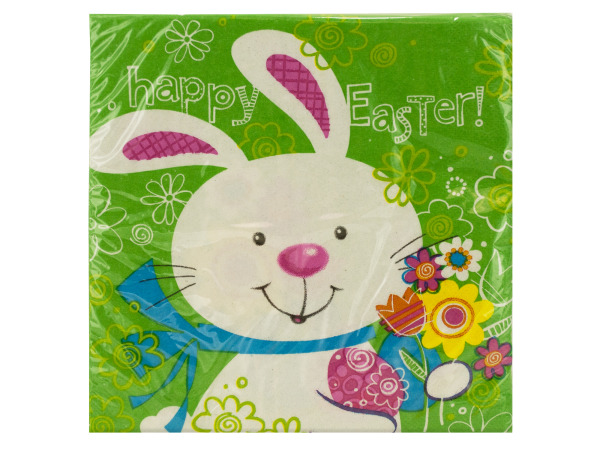 18 pack 12.875 x 12.75 inch hoppy bunny lunch napkins