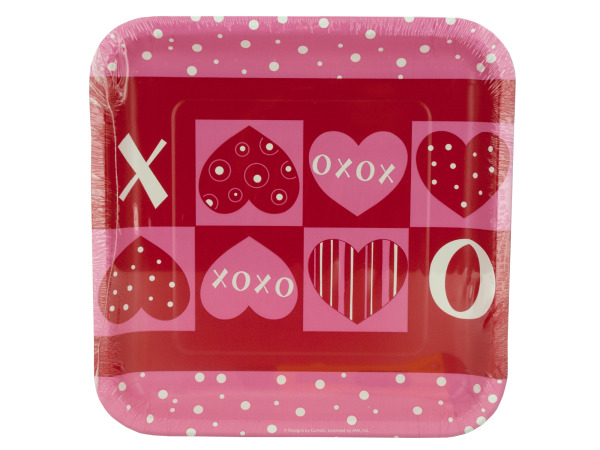 8 pack 9.125 inch crafty hearts paper plates