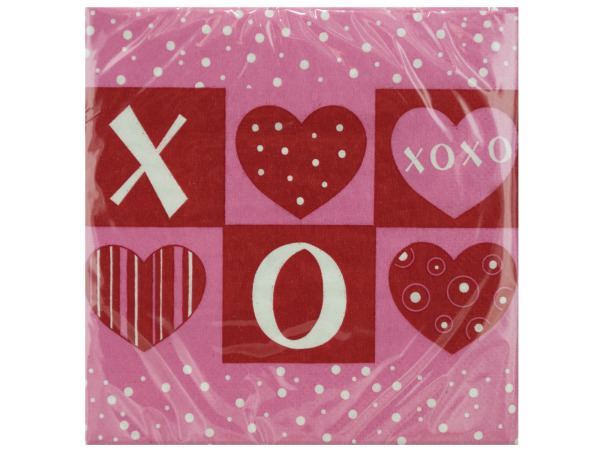 18 pack 9.875 x 9.875 inch crafty hearts beverage napkins