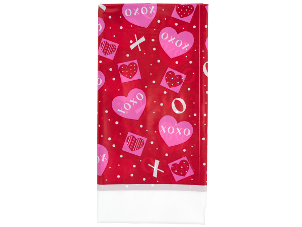 54 x 108 inch plastic crafty hearts tablecover