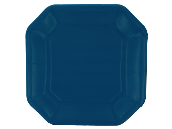 8 pack 10inch. blue plates