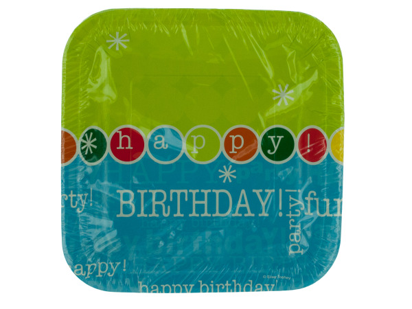 8 pk 7 x 7 in. time to party birthday plates