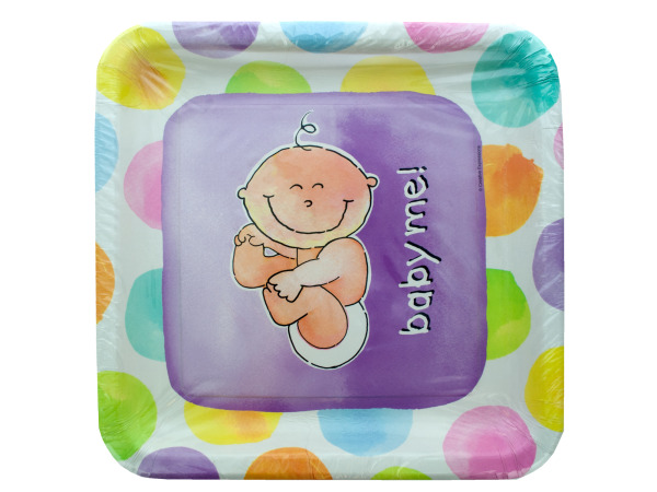 8 pk 10 x 10 in baby me plates