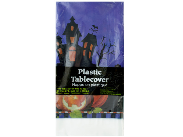54 x 108 halloween haunting plastic table cover