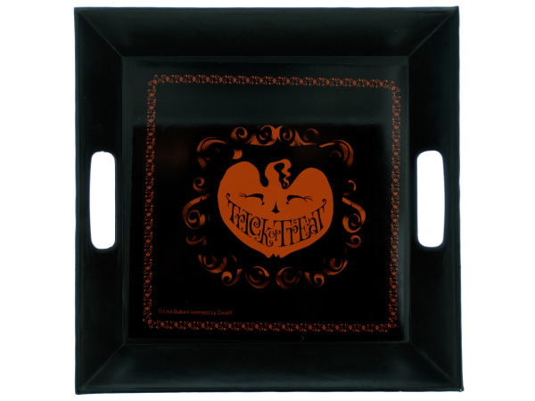 scary silhouettes 10.25 inch square plastic tray