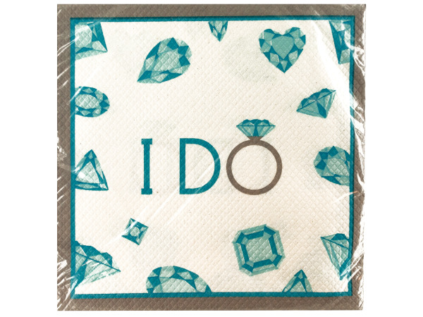 16 pack celebrate diamonds lunch napkins 12 7/8 x 12 3/4 in.