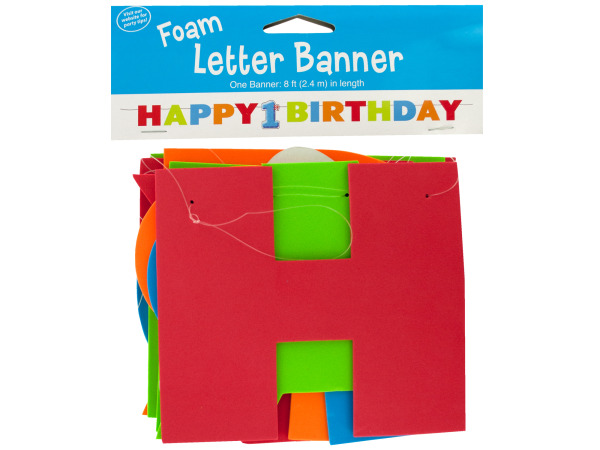 8 ft big 1 dots boy foam letter happy birthday banner