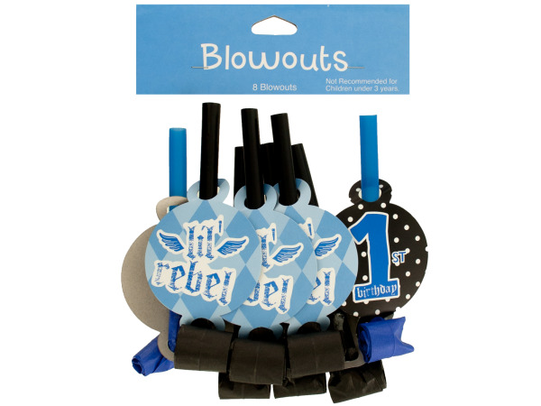 8 pack 1st birthday lil rebel blowouts