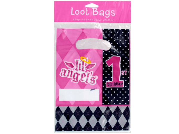 8 pack first angel loot bags 6.5 x 9 inch